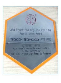 ASM Front-end Mfg Pte Ltd Appreciation Award