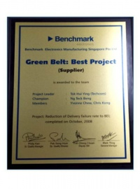 Benchmark Green Belt Award
