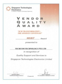 Vendor Quality Award- scm transformations